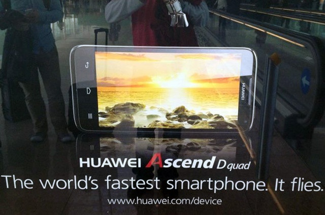 Huawei Ascend D quad pictured, promises to be 'the world's fastestsmartphone'