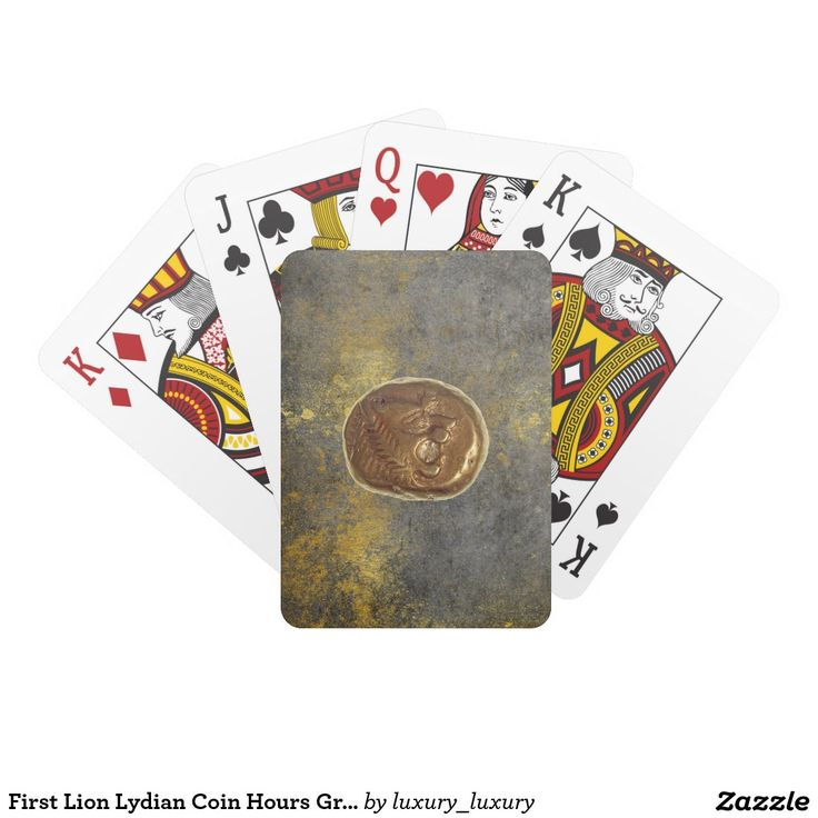 First Lion Lydian Coin Hours Grungy Playing Cards