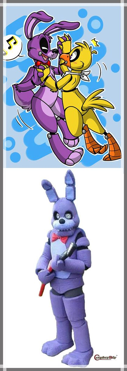 CosplayDiy Unisex Mascot Costume Five Nights At Freddy's Toy Purple Bunny Mascot Costume Cosplay