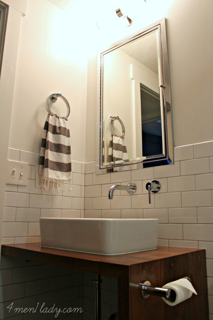 Clean Modern Bathroom Basement Before And After From 3 Men 1 Lady Featuring