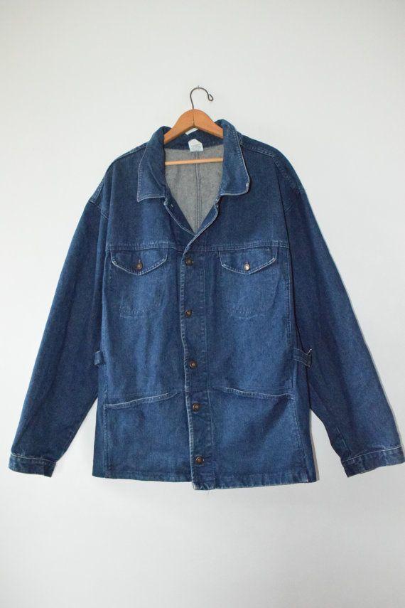 des années 90 patron veste en Jean / / taille mens x par GUTTERSHOP