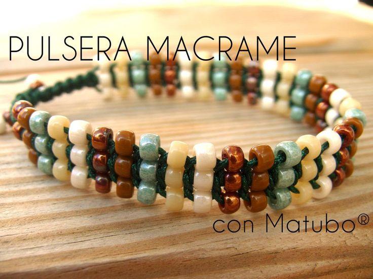pulsera de Macramé con Matubo