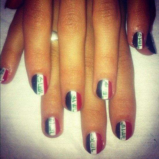 Iraq Flag Nails