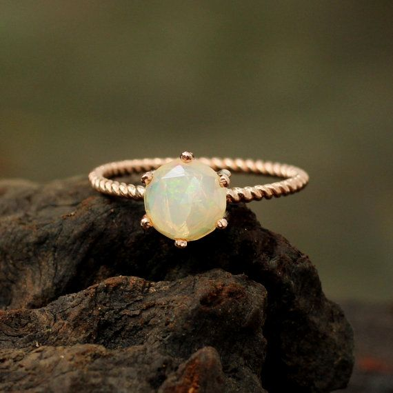 Rose gold plated silver ring with hand by MetalStudioThailand, $125.00