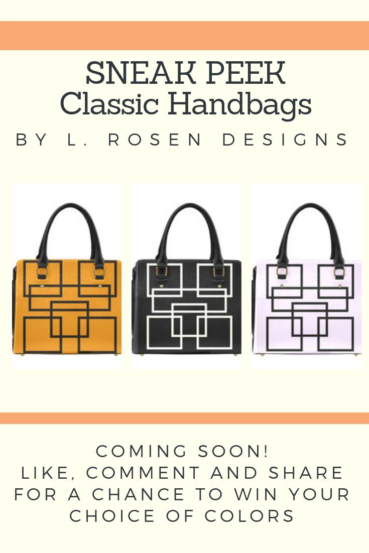 08e39b98b COMING SOON! Classic Handbags by L. Rosen Designs. Like