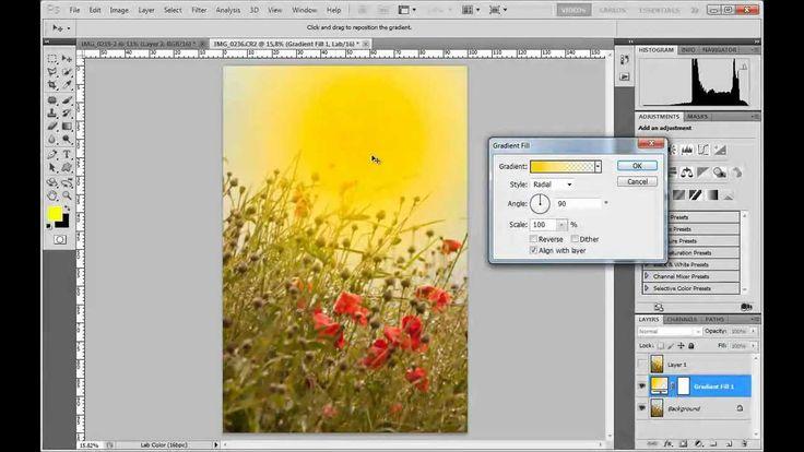 Efectos de luz con degradados en Photoshop