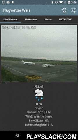 Flugwetter Wels  Android App - playslack.com , Aktuelles Flugwetter (METAR und TAF), Ortswetter mit 3-Tagesprognose, Windverhältnisse, echtzeitbasiertes Wolken- und Regenradar, eine Live-Webcam auf den Zivilflugplatz Weisse Möwe Wels (LOWL) sowie einen News-Feed mit den wichtigsten Terminen des Fallschirmspringer Vereins Union Linz und einem aktuellen Newsticker für Fallschirmspringer.METAR und TAF wird durch einen Parser vollständig in Klartext ersetzt, dabei wird das Zeitformat korrigiert…
