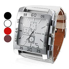 Men's Watch Dress Watch Big Square Dial PU Band – AUD $ 8.33