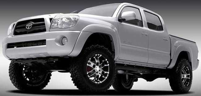 pics of 2015 toyota 4 runner with chrome and black rims | Ultra Baron Black Wheels on 2007 Toyota Tacoma
