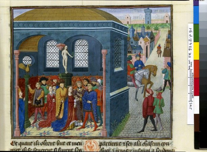 Fol 91. Histoire d'Alexandre (BNF Fr. 9342), mid-15th century. France.
