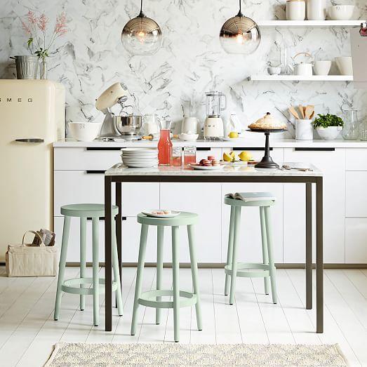 Les 25 meilleures id es concernant comptoirs de cuisine verte sur pinterest - Desserte ilot cuisine ...