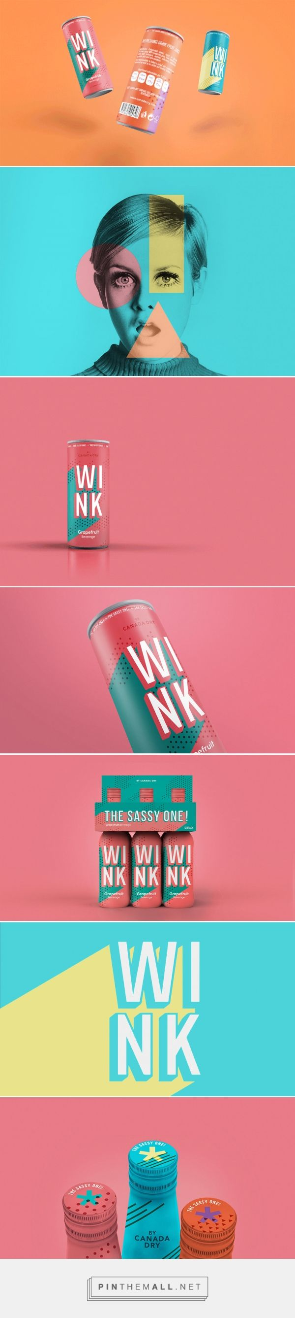 Travel Back to the 60s with the Process for Wink Beverages Concept — The Dieline - Branding & Packaging Design - created via https://pinthemall.net