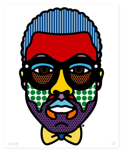 These celebrity portraits by Craig Redman, of the graphic design duo Craig & Karl, prove just how ubiquitous some celebrity visages really are.
