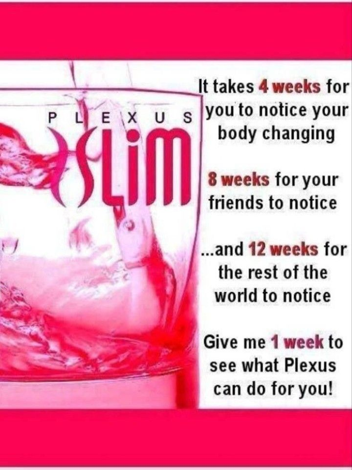 Give it 1 week! Thats all for you to feel a difference, more energy, better sleep, and even some weight loss! A 7 day trial pack was all I needed to want to drink PLEXUS SLIM everyday! I felt better, had more energy, slept better, got to sleep an stayed to sleep!! An even lost some weight! Ask me today how to order your first trial pack an you too will see results! www.shopmyplexus.com/Lyndzipowers