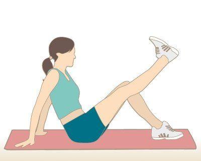 flexion et extension de la jambe, pour muscler les quadriceps (devant de la