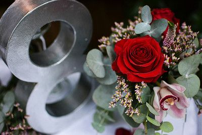 Silver Shiny 3D Table Numbers #inspo... for Fresh, Contemporary, #winter #Weddings #tablescape