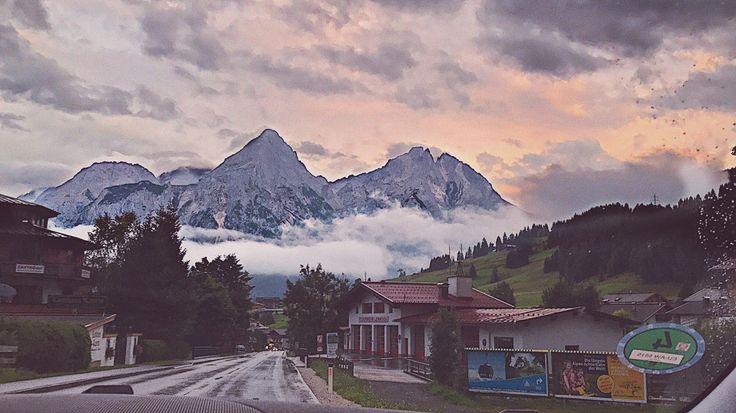 #montains #nature #clouds #alpes #Germany #sunset #trip #car #горы #природа #красота