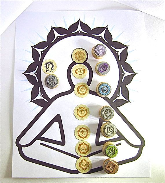 LOVE all of Mei's handmade stamps. Looking for inspiration? It is here. Chakra Rubber Stamp Set  7 chakra symbols and 1 by etchythings, $36.43