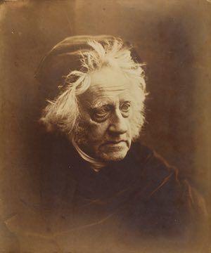Sir John Herschel with Cap, April 1867, Julia Margaret Cameron