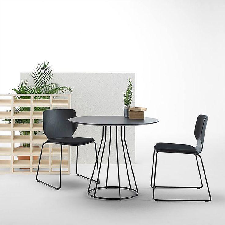 Nim from Sandler Seating in Black. Designed by Yonoh Studio.