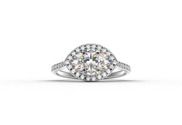 Center of My Universe™ Marquise Halo Ring | Forevermark