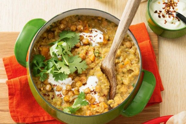 Sweet potato and chickpea dhal - Dhal is a wonderful way to warm up on a cold day. All those spices simmering away with sweet potato and chickpeas in your pan. Definitely one to try.