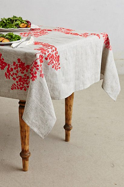 What if we did a print on fabric for the back drop?  Botanical Garden Table Linen #anthropologie