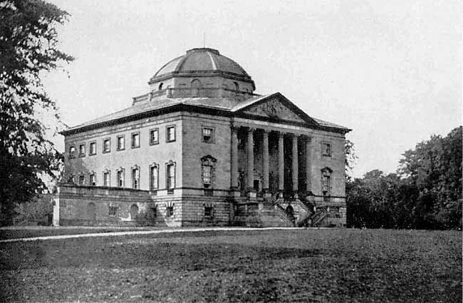 Nuthall Temple. The house was completed in 1757 and is said to have been inspired by Palladio's Villa Capra in Vicenza. In 1926, due to falling agricultural rents and outstanding estate duties owed to the state, the owner was forced to consider selling the property. The house was eventually demolished in 1929 and in 1966 the site was buried under one of the slip roads at Junction 26 of the M1 motorway.