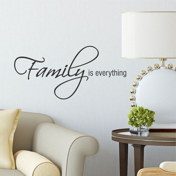 Family Is Everything Home Family Vinyl Wall Quote Decal