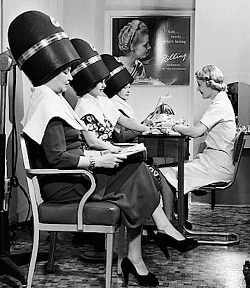 Image Detail For Vintage Beauty Salon Women Drying Hair Dryers