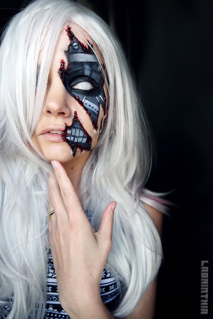 Cyborg makeup by labrinthia on DeviantArt
