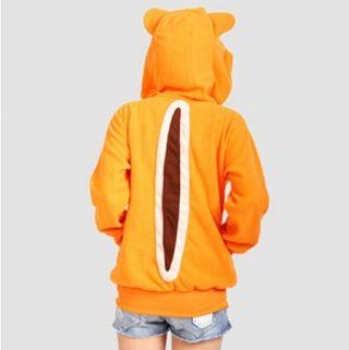 女の子のコスプレ衣装のためのオレンジリスジップパーカー