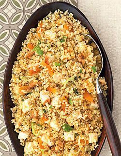 I love quinoa !!!!! So good and good for you!! Pure protein! Try some good recipes