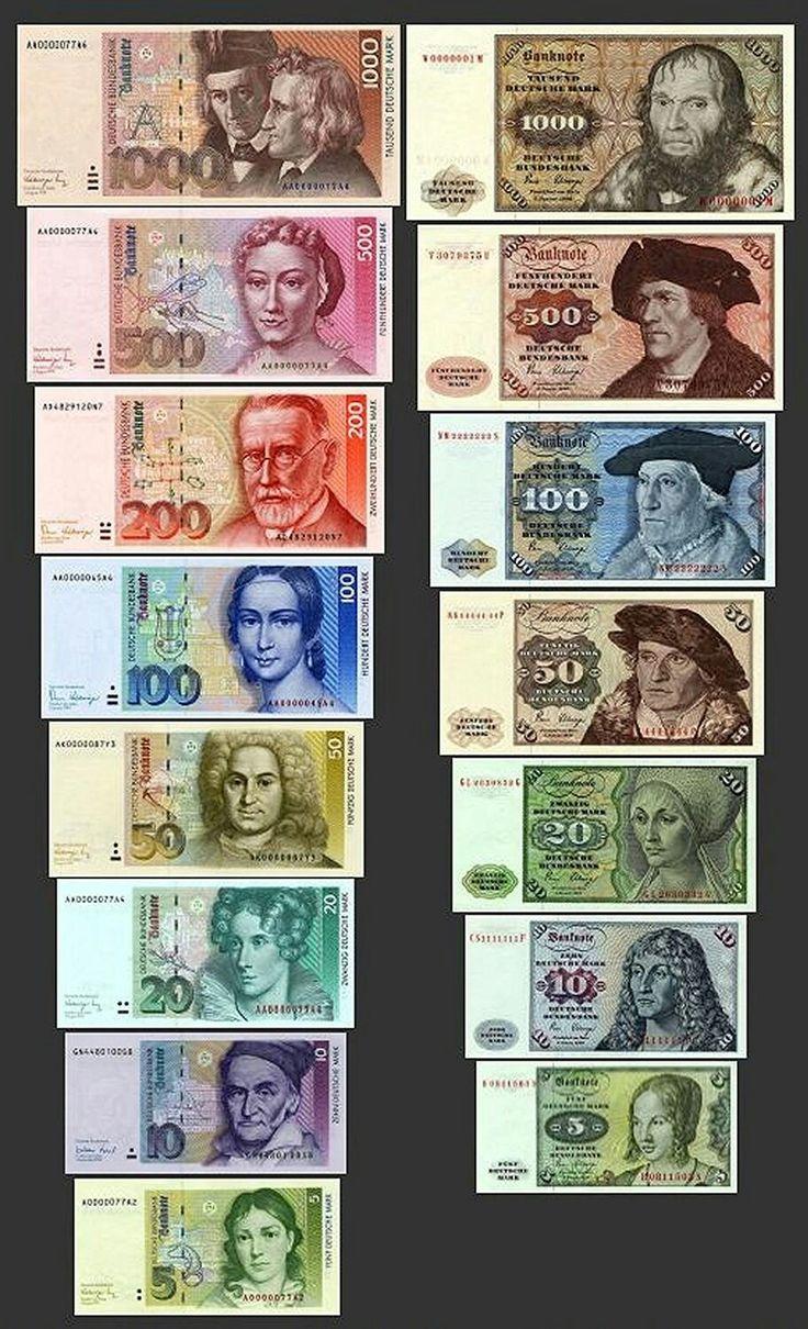Pin auf Geldscheine