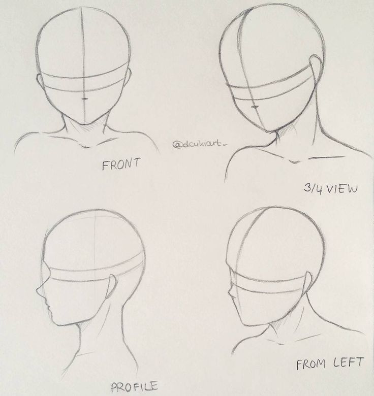 How To Draw Different Head Poses Maybe This Tutorial Helps A Bit Manga Anime Doodle Illustration Mangadra Anime Drawings Tutorials Drawing Heads Drawings