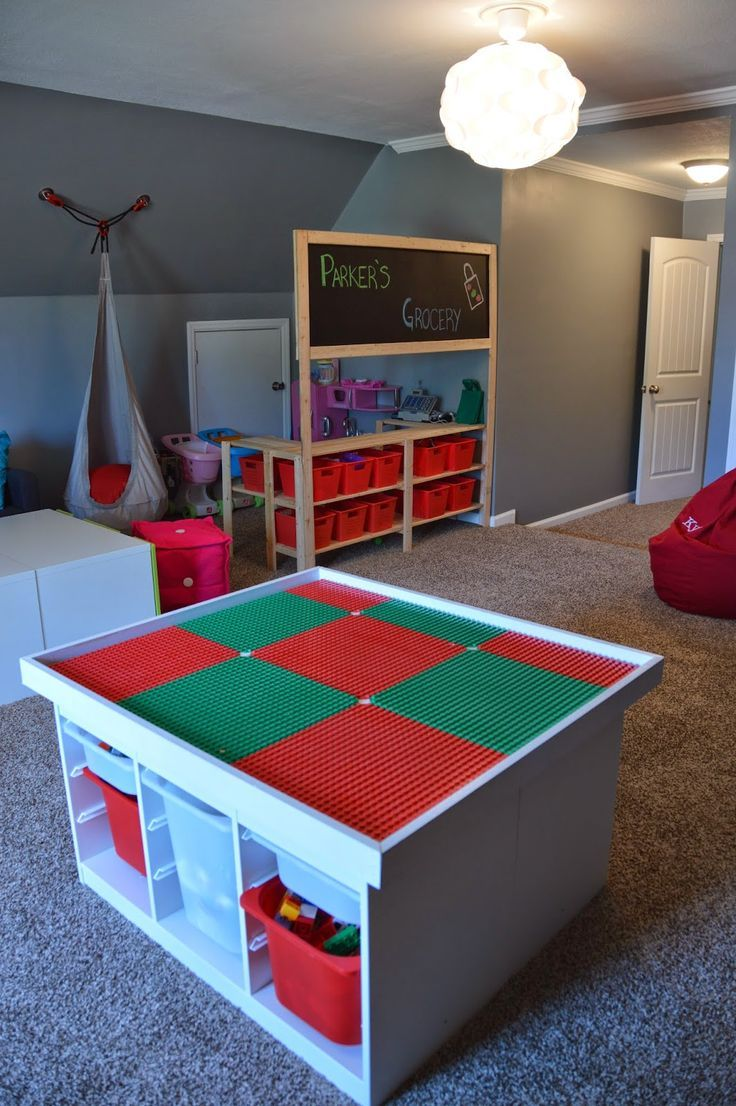 IKEA diy Lego table and grocery store pretend play