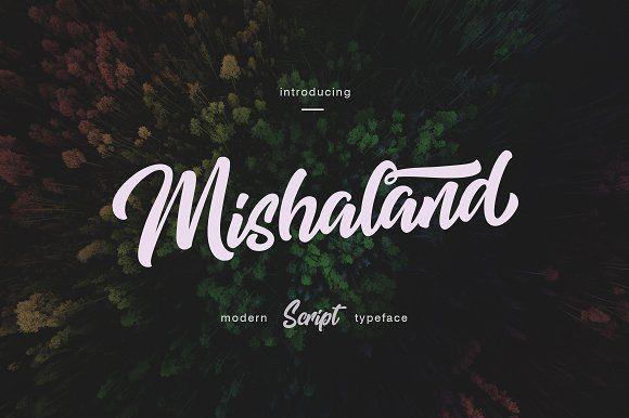 Mishaland Typeface by thirtypath on @creativemarket