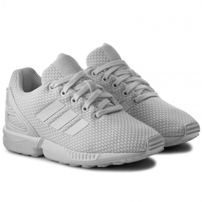 Topánky adidas - Zx Flux C S76296  Ftwwht/Ftwwht/Ftwwth