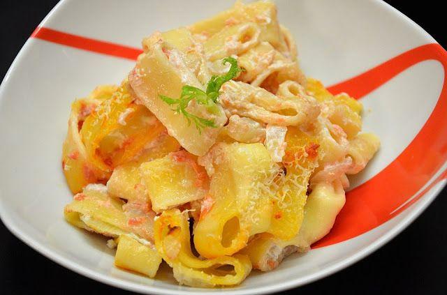 Calamarata al forno ai finocchi e formaggi