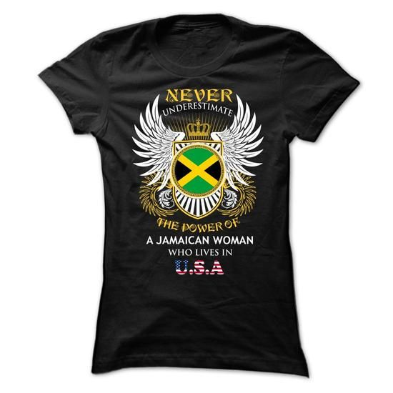 A Jamaican Woman Who Lives In USA - #funny shirts #design tshirts. CHEAP PRICE => https://www.sunfrog.com/States/An-Jamaica-Woman-Who-Lives-In-USA-Ladies.html?60505