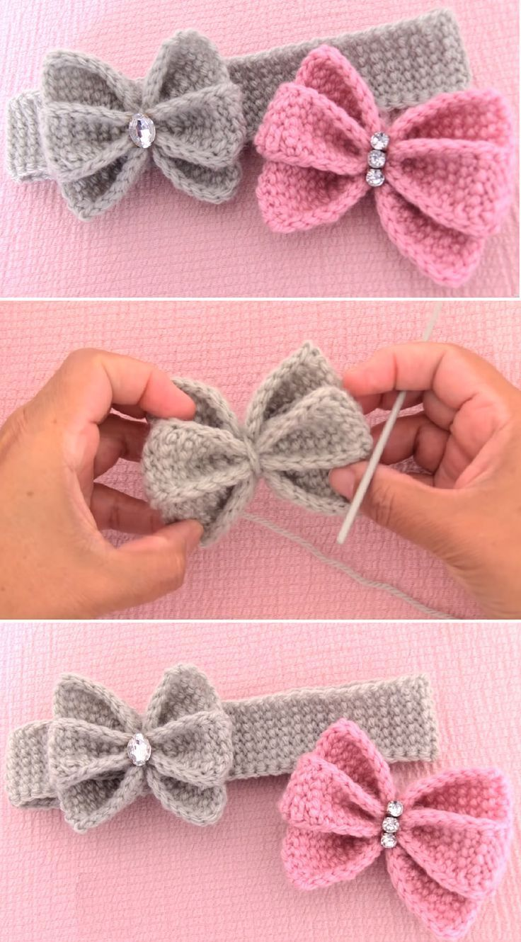 Crochet Easy Butterfly Bow Headband  #amigurumi #crochet #knitting #amigurumipatterns #cro