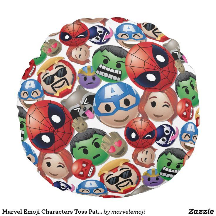 Marvel Emoji Characters Toss Pattern. Producto disponible en tienda Zazzle. Decoración para el hogar. Product available in Zazzle store. Home decoration. Regalos, Gifts. #cojín #pillows