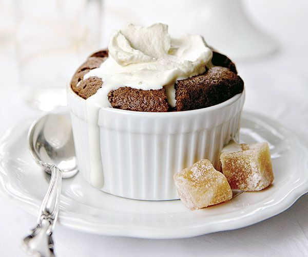 brown sugar and rum whipped cream chocolate soufflés with brown sugar ...