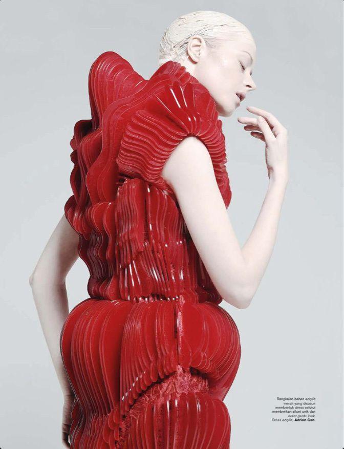Dress acrylic by Gan