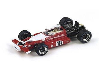 McLaren M7B (Vic Elford - Dutch GP 1969) in Red (1:43 scale by Spark S3126)