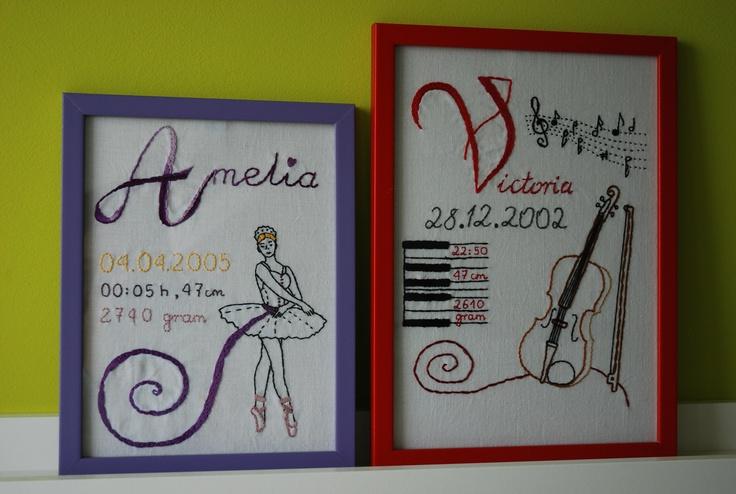 metryczki dla baletnicy i młodej skrzypaczki ;)