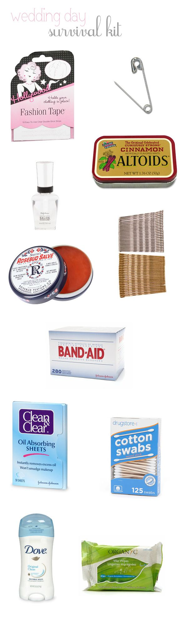 DIY wedding emergency kit