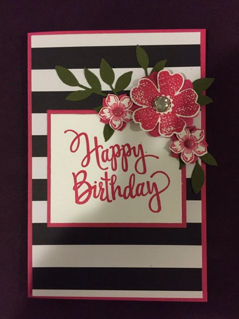 Pop of paradise stampin up happy birthday card