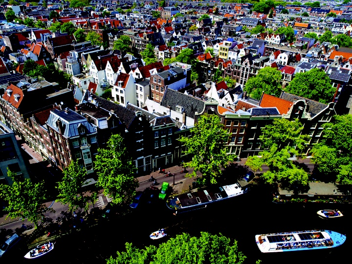 Amsterdam from above.