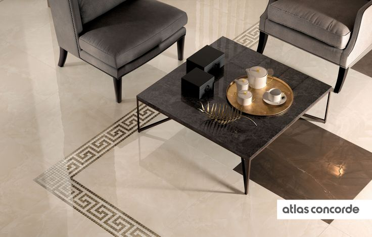 #MARVEL champagne and bronze | #Mosaic | #Floor design | #AtlasConcorde | #Tiles | #Ceramic | #PorcelainTiles